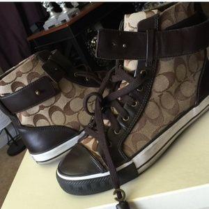 Coach Shoes - Coach high tops size 10m